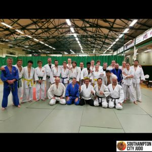 Hampshire Senior Squad Training at Southampton City Judo Club.